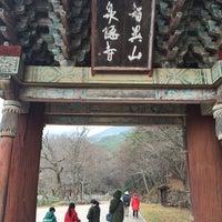 Photo taken at 천은사 (泉隱寺) by Hyun Goo K. on 12/24/2015
