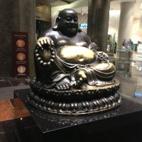 Photo taken at Big Buddah Statue at ARIA by Chris V. on 8/10/2013