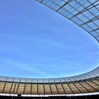 Photo taken at Olympiastadion by Andreas G. on 4/21/2013