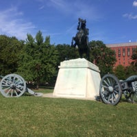 Photo taken at Andrew Jackson Statue by Ashley P. on 8/30/2017