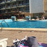 Photo taken at Pool @ Hotel Yantra by Birnur G. on 8/25/2015