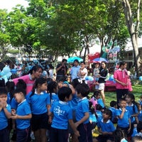 Photo taken at Sarasas Suksawad School by Aphiwan W. on 1/18/2013