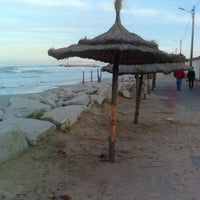 Photo taken at Plage Hammam Chatt by Nabil B. on 12/23/2012