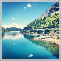 Photo taken at Lago Fedaia by Luca B. on 7/31/2013