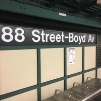 Photo taken at MTA Subway - 88th St/Boyd Ave (A) by Vicky C. on 11/30/2016