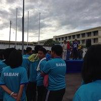 Photo taken at Parking Kompleks Sukan Likas by Vino KЯB™ on 5/19/2014