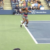 Photo taken at Arthur Ashe Stadium - USTA Billie Jean King National Tennis Center by Sam O. on 8/31/2013