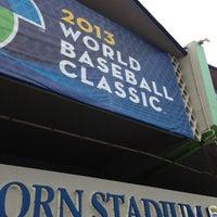 Photo taken at Estadio Hiram Bithorn by Jhonny M. on 3/7/2013