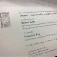 Photo taken at Fundacion Ramon Areces by Ed F. on 10/26/2012