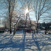 Photo taken at Стадион школы №237 by Julie P. on 2/23/2018