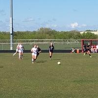 Photo taken at sun prairie high school soccer field by Stuart C. on 5/6/2017