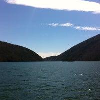 Photo taken at Smith Mountain Lake Dam by Ryan H. on 4/5/2013
