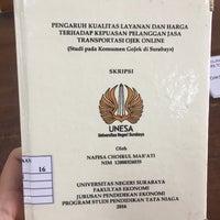 Photo taken at Universitas Negeri Surabaya (UNESA) by Irene A. on 2/24/2017