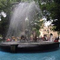 Photo taken at Plaza Hidalgo by Joey C. on 4/5/2014
