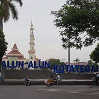 Photo taken at Alun Alun Tegal by Lina J. on 7/14/2017