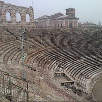 Photo taken at Arena di Verona by Lina J. on 1/29/2013