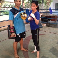 Photo taken at ค่ายเพชรบ้านปืน PhetBanPeun Gym by BiiGZa G. on 4/29/2014