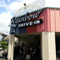 Photo taken at Rainbow Drive-in by tae k. on 4/7/2013