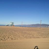 Photo taken at Santa Monica Beach Tower 26 by Gia G. on 10/23/2012