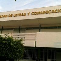 Photo taken at Facultad de Letras y Comunicación by Jonathan L. on 11/21/2012