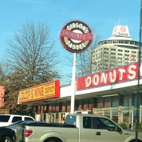 Photo taken at Gibson's Donuts by Niki P. on 1/28/2013
