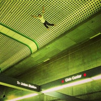 Photo taken at Civic Center Metro Station by Nathan R. on 3/9/2013