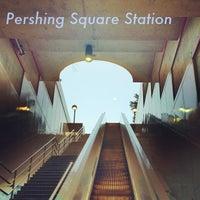 Photo taken at Pershing Square Metro Station by Nathan R. on 5/22/2013