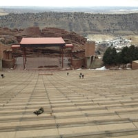Photo taken at Red Rocks Interactive Hall Of Fame by Amy A. on 3/4/2013