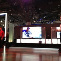 Photo taken at The Sharp Electronics Booth # 10916 by Daniele G. on 1/10/2013