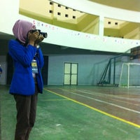 Photo taken at GOR Universitas Islam Indonesia by Laela N. on 10/2/2012