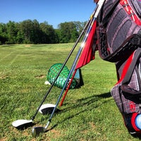 Photo taken at Fox Creek Golf Course and Driving Range by Justin H. on 5/24/2013