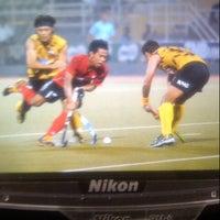 Photo taken at Stadium Hoki Nasional by Joe P. on 3/24/2013