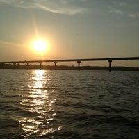 Photo taken at Mile Long Bridge by Dina M. on 8/25/2013