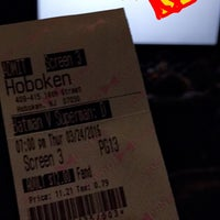 Photo taken at Bow Tie Cinemas Hoboken by Cameron H. on 3/24/2016