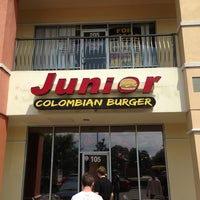 Photo taken at Junior Colombian Burger by Rodney B. on 4/13/2013