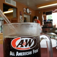 Photo taken at A & W All American Food Drive-In by Becky S. on 6/18/2014