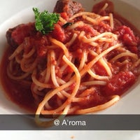 Photo taken at A'Roma Ristorante by Elaine L. on 6/24/2014