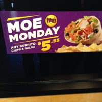 Photo taken at Moe's Southwest Grill by Michael P. on 1/3/2014