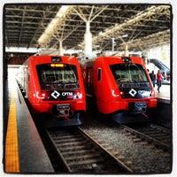 Photo taken at Estação Brás (CPTM) by Marco W. on 10/8/2012