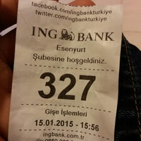 Photo taken at ING Bank by Levent Ü. on 1/15/2015