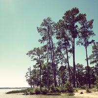 Photo taken at Black Point (Jamestown Island) by Margot S. on 5/26/2013