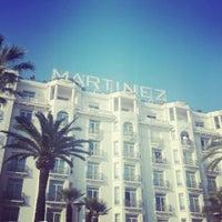 Photo taken at Grand Hyatt Cannes Hôtel Martinez by Katarzyna on 6/14/2013