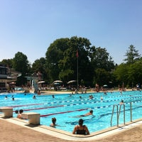 Photo taken at Gartenbad Bottmingen by John A. on 7/21/2013