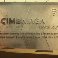 Photo taken at CIMB NIAGA Digital Lounge by arfan i. on 2/7/2014