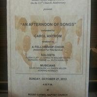 Photo taken at Mt Carmel Baptist Church by Charlotte C. on 10/27/2013