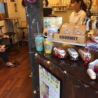 Photo taken at Yufumidoori Coffee by KC K. on 9/18/2015