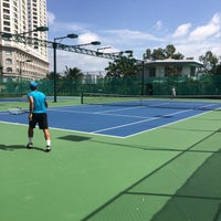 Photo taken at Phú Thọ tennis club by Thy T. on 7/3/2014