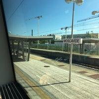 Photo taken at Estação Ferroviária de Moscavide by Pedro C. on 6/3/2017