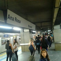 Photo taken at Ana Rosa Station (Metrô) by Cliquet D. on 2/8/2013