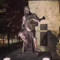 Photo taken at Willie Nelson Statue by Anthony B. on 9/6/2016